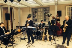 With Third Coast Jazz at a wedding reception in Fairbanks Ranch